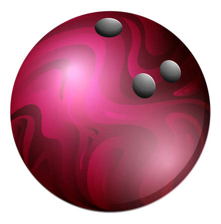 bolos: Bola de boliche púrpura sobre un fondo blanco Vectores