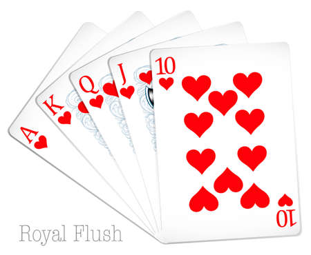 royal flush: Poker cards show royal flush