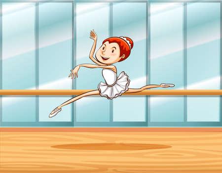 ballet studio: Woman practicing ballet in a room