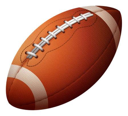 pelota rugby: La bola de rugbi solo en un fondo blanco Vectores