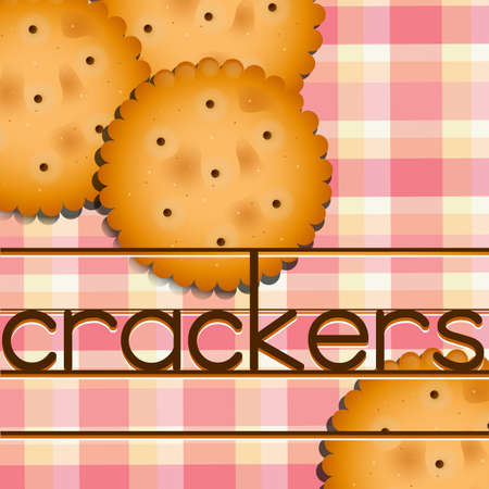 crackers: Poster of crackers with white and pick background