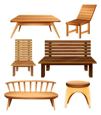 plywood: Wooden chairs and table in classic design