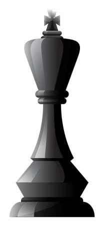 one piece: One piece of black chess
