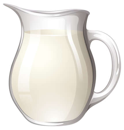 filled: Glass jar filled with fresh milk