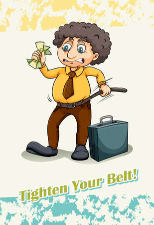 tighten: Idiom saying tighten your belt