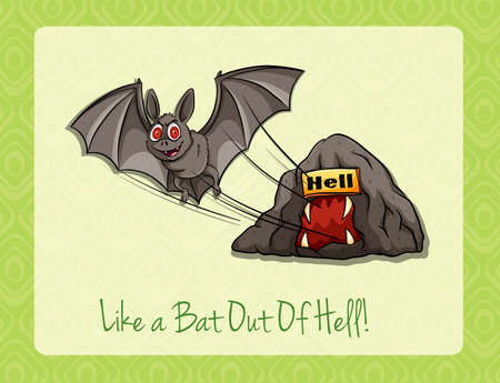 idiom: Idiom like a bat out of hell