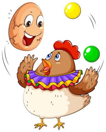 juggling: Bolas de malabares de pollo y huevo