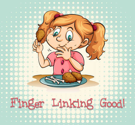 linking: Idiom saying finger linking good