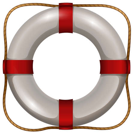 life saver: Life saver floating object with rope