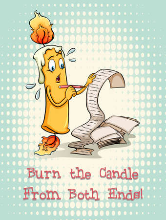 burning paper: Burn the candle from both ends