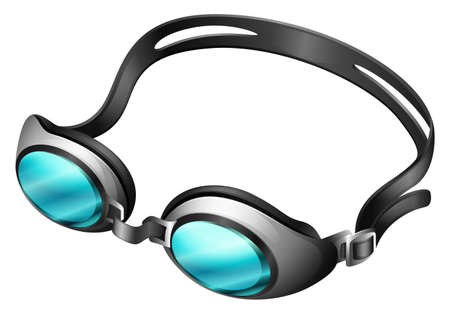 goggle: Swimming goggle with blue lens