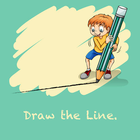 saying: Idiom saying draw the line