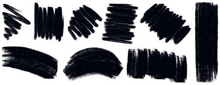 doodle art: Different design of black scribbles Illustration
