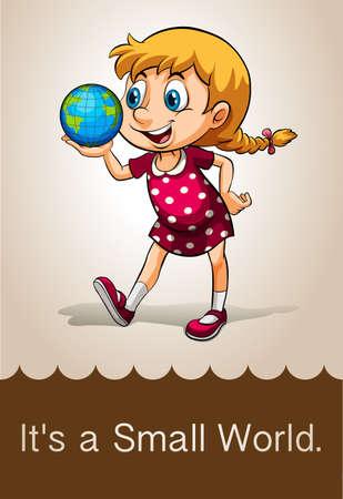 small world: English idiom saying its a small world