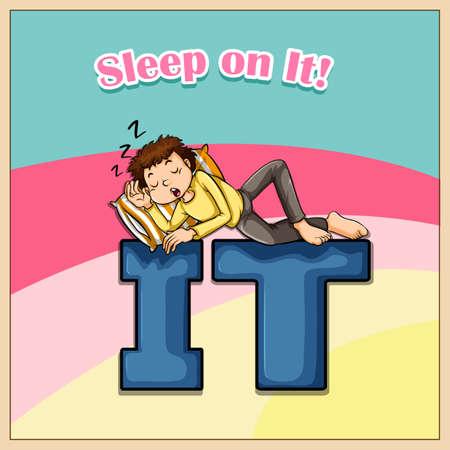 Idiom saying sleep on it