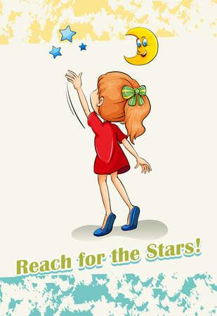successful: English idiom reach for the stars