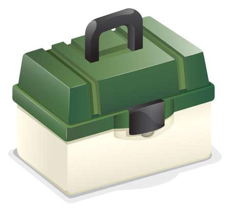tackle box: Tackle box with green lid Illustration