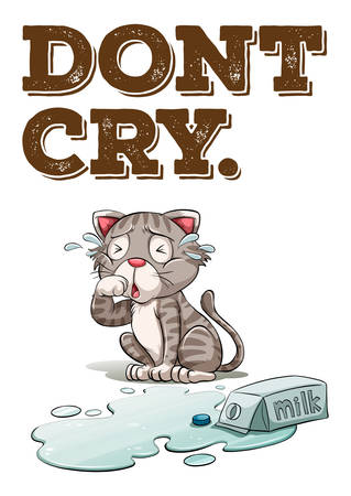 caja de leche: Gatito leche derramada en el suelo