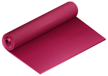 liesure: Rolled mat in pink color Illustration