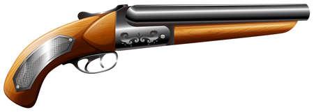 vintage gun: Vintage firegun made of wood and metal