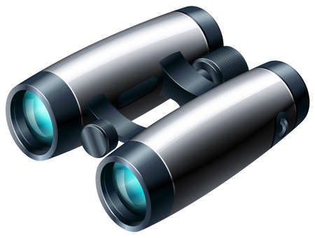 adjustment: Binoculars with blue lens and adjustment