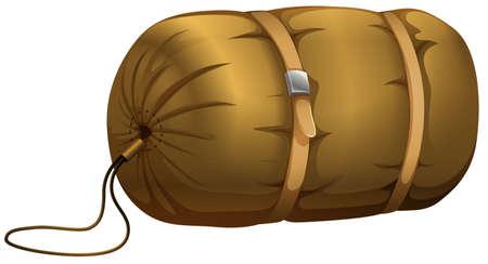 belt up: Single sleeping bag in sack