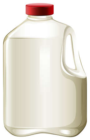 liter: Bottle of fresh milk with red lid