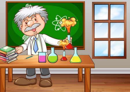 profesor: Científico que trabaja en el laboratorio