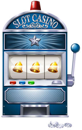 machine: Vintage design of slot machine