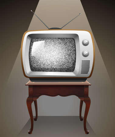 old tv: Retro television on the table
