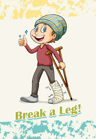 saying: English idiom saying break a leg