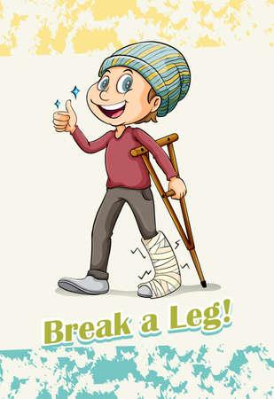 idiom: English idiom saying break a leg