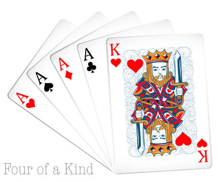 kind of: Set of cards with four of a kind
