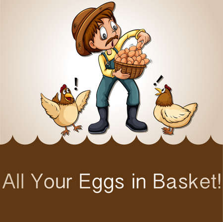 figurative: All your eggs in basket Illustration