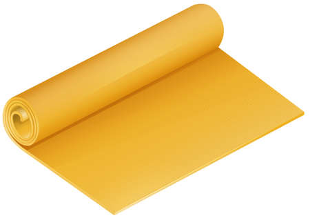 fabric roll: Rolled mat in yellow color