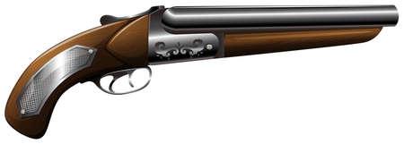vintage gun: Vintage design of wooden shot gun