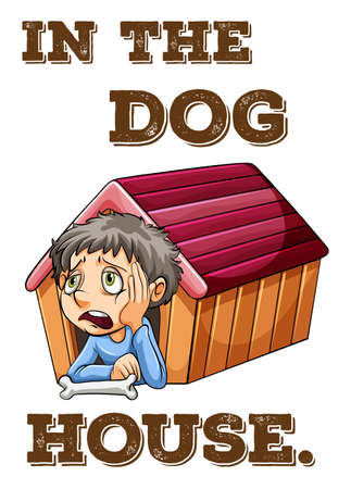 doghouse: English saying in the doghouse