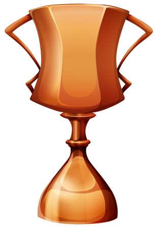 trofeo: Taza del trofeo de cobre Vectores