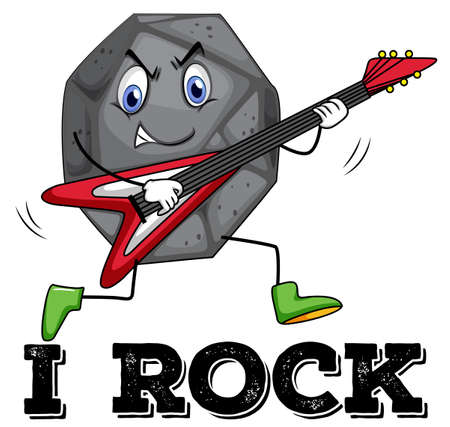 heavy: Heavy rock playing guitar with wording