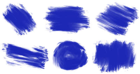 brush paint: Brush strokes in different styles
