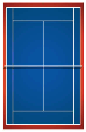 Blue Badminton Court Layout Illustration Royalty Free Cliparts