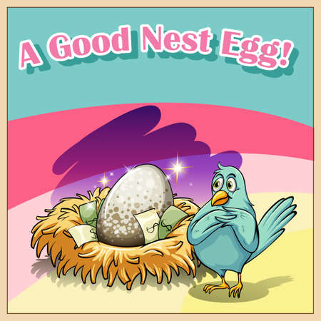 idiom: English idiom saying a good nest egg