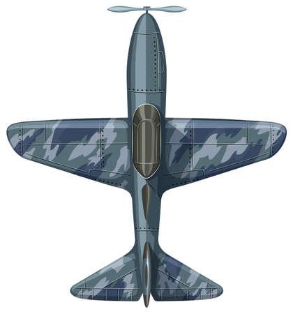 prop: War plane aerial view illustration