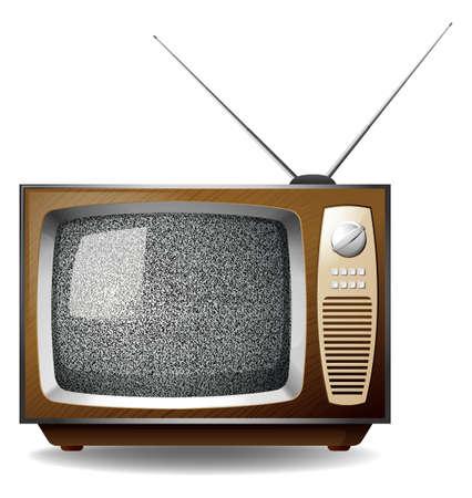 television set: Retro television set with black no signal