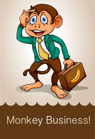 saying: English idiom saying monkey business