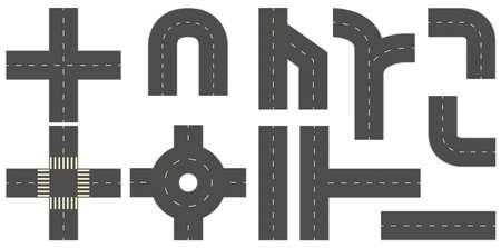 Les routes et les rues dans de nombreux coins différents Banque d'images - 42988443