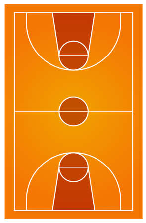 no people: Diagram of basketball court with no people