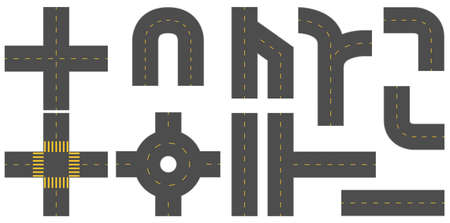 Set van verschillende patroon van wegen op een witte achtergrond