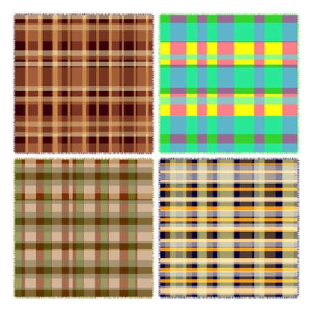 scotch: Tartan design in four different patterns Illustration