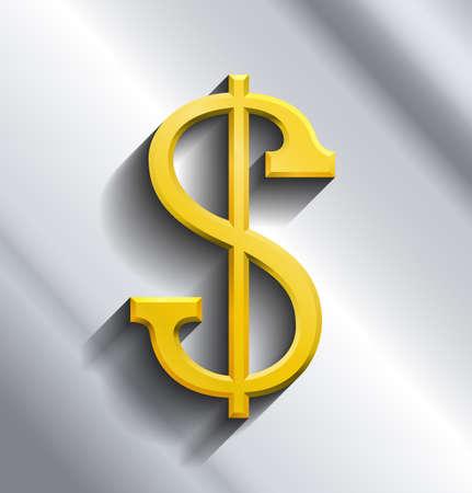 signo pesos: Signo de dólar con fondo gris
